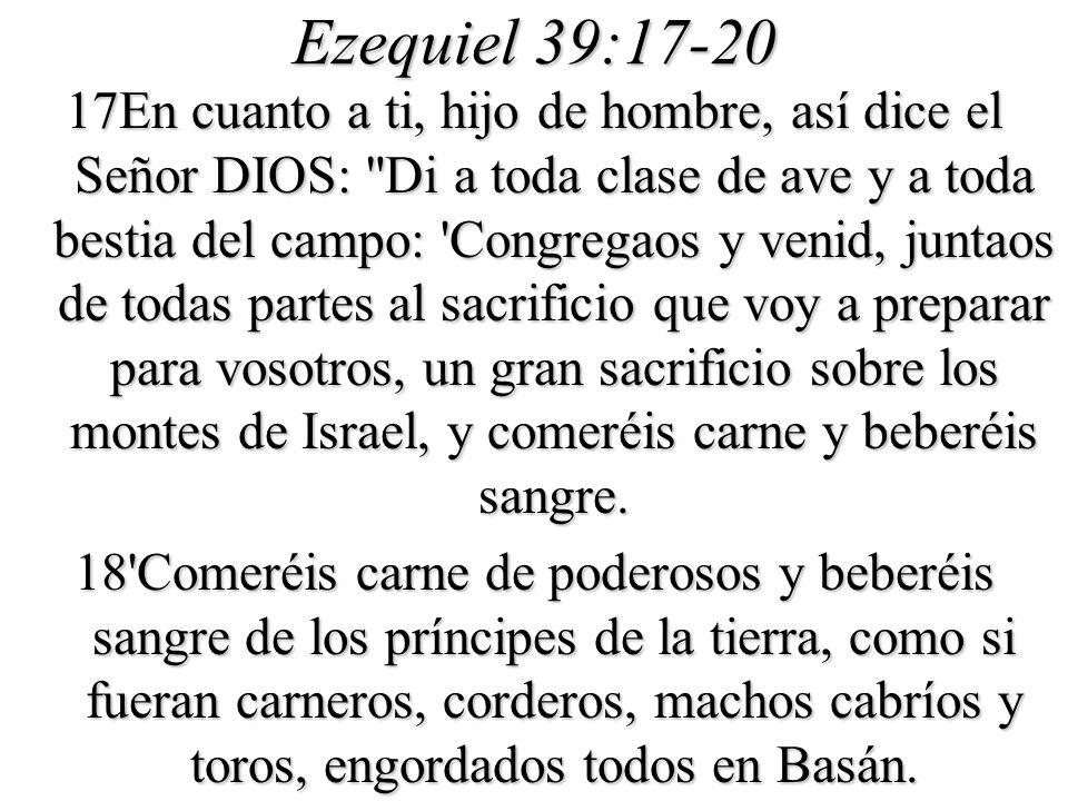 Ezequiel 39:17-20