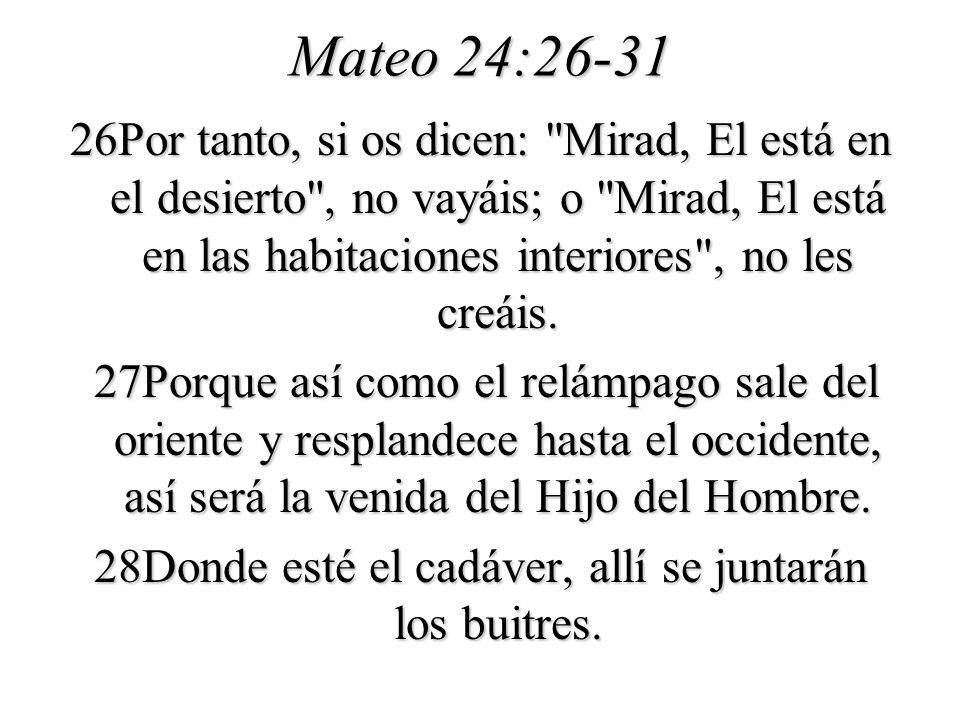 Mateo 24:26-31
