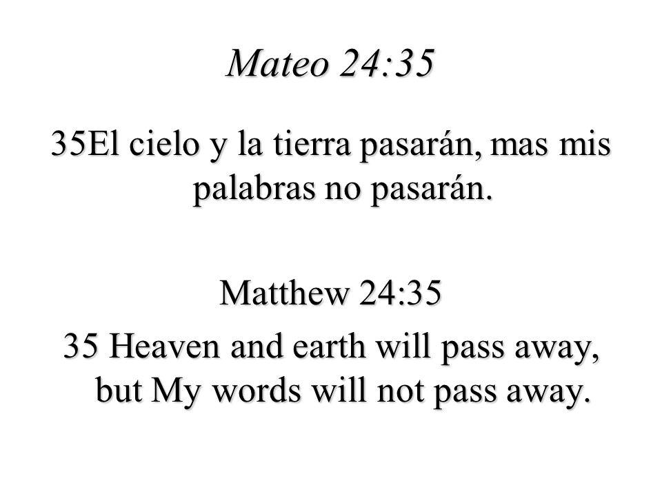 Mateo 24:35