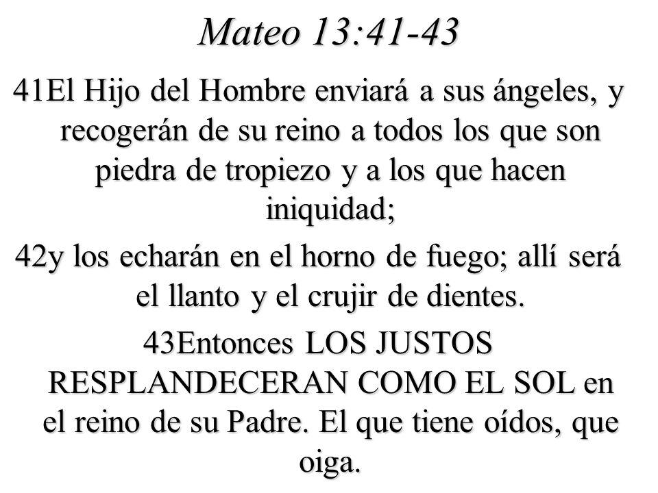 Mateo 13:41-43