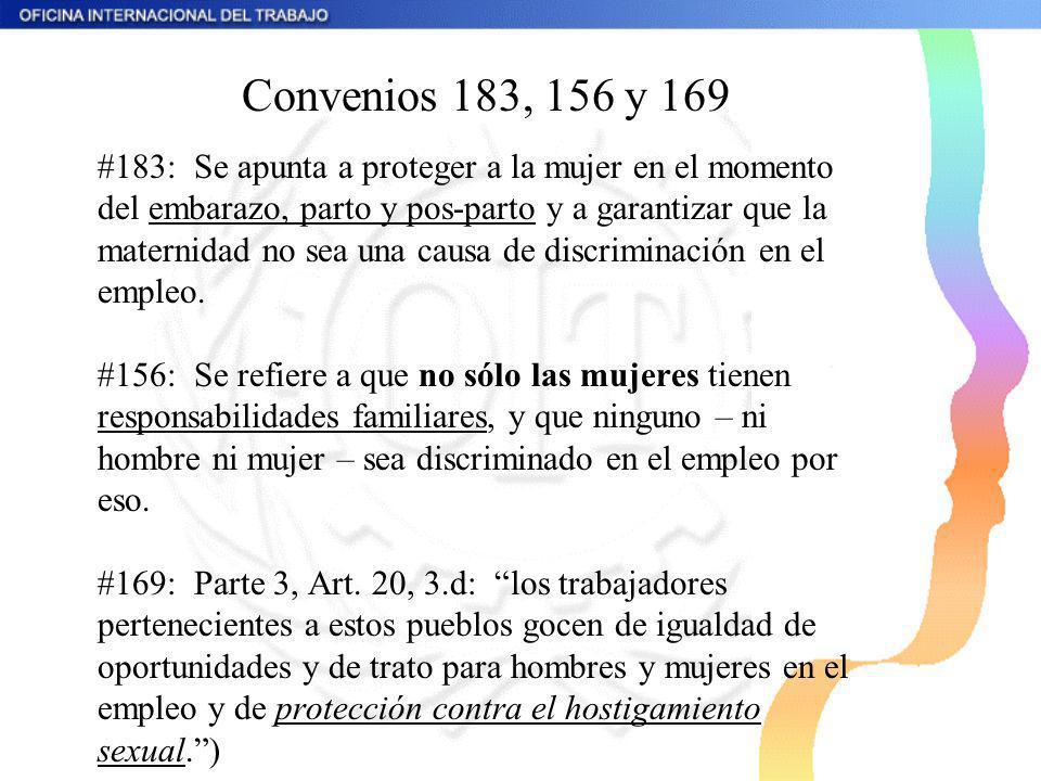 Convenios 183, 156 y 169