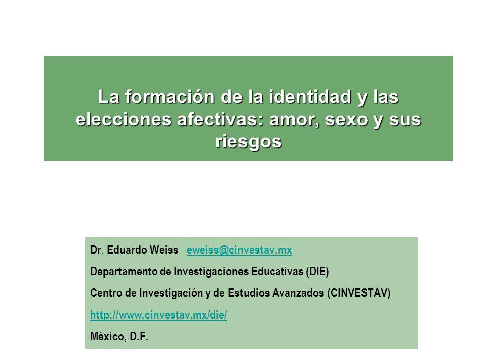 La formación de la identidad y las elecciones afectivas: amor, sexo y sus riesgos