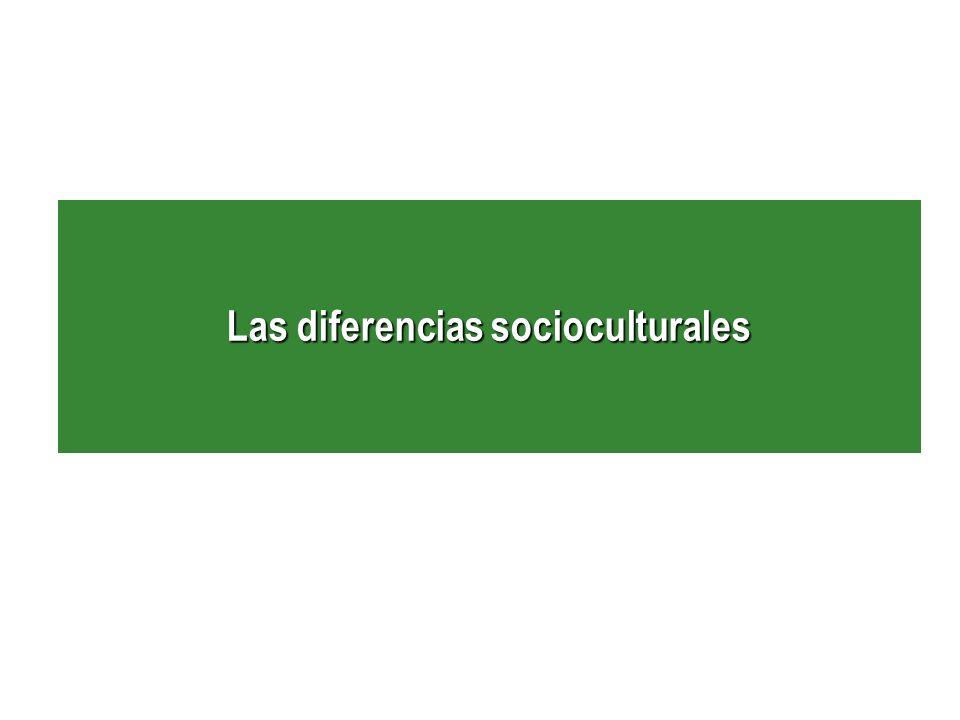 Las diferencias socioculturales