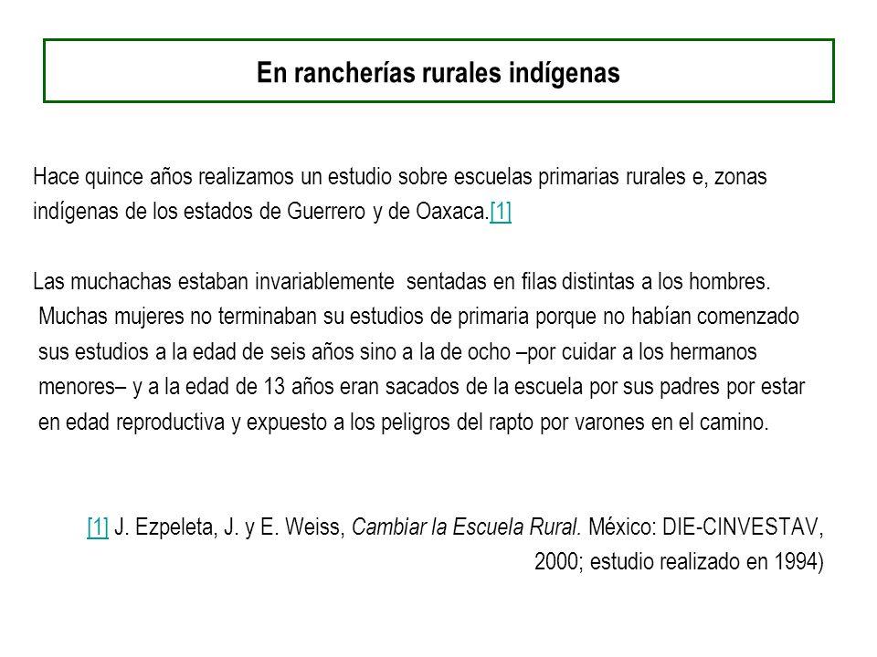 En rancherías rurales indígenas