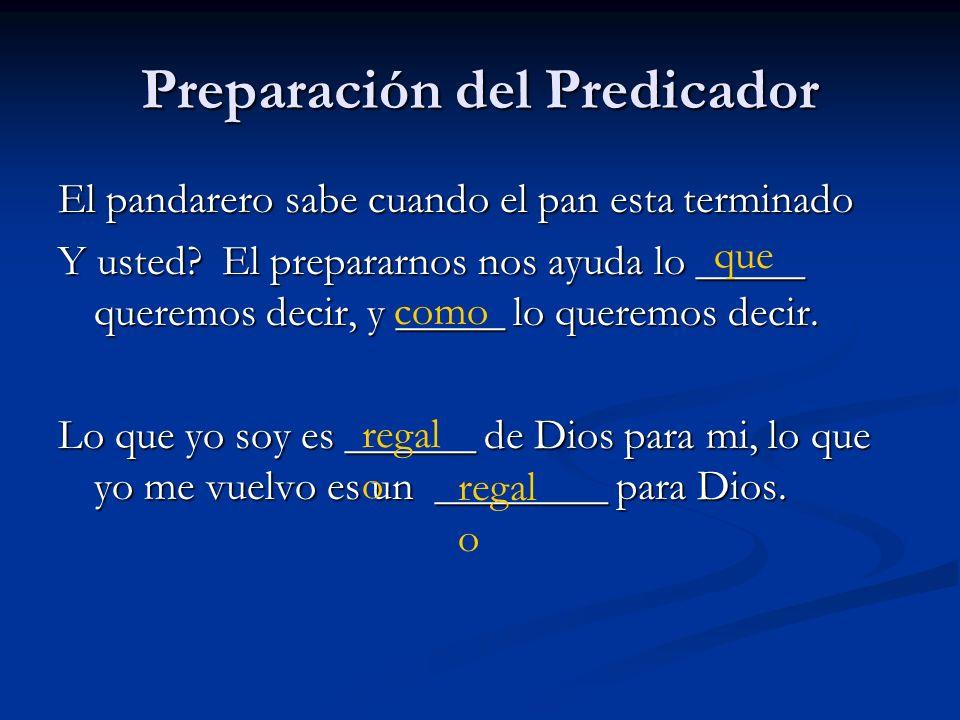 Preparación del Predicador