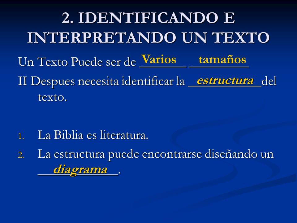 2. IDENTIFICANDO E INTERPRETANDO UN TEXTO
