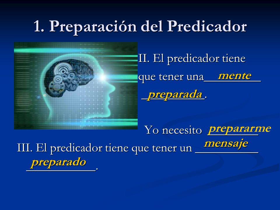 1. Preparación del Predicador