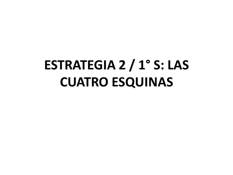 ESTRATEGIA 2 / 1° S: LAS CUATRO ESQUINAS