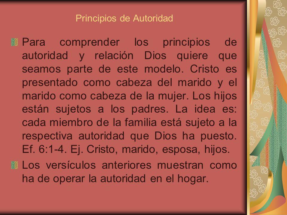 Principios de Autoridad
