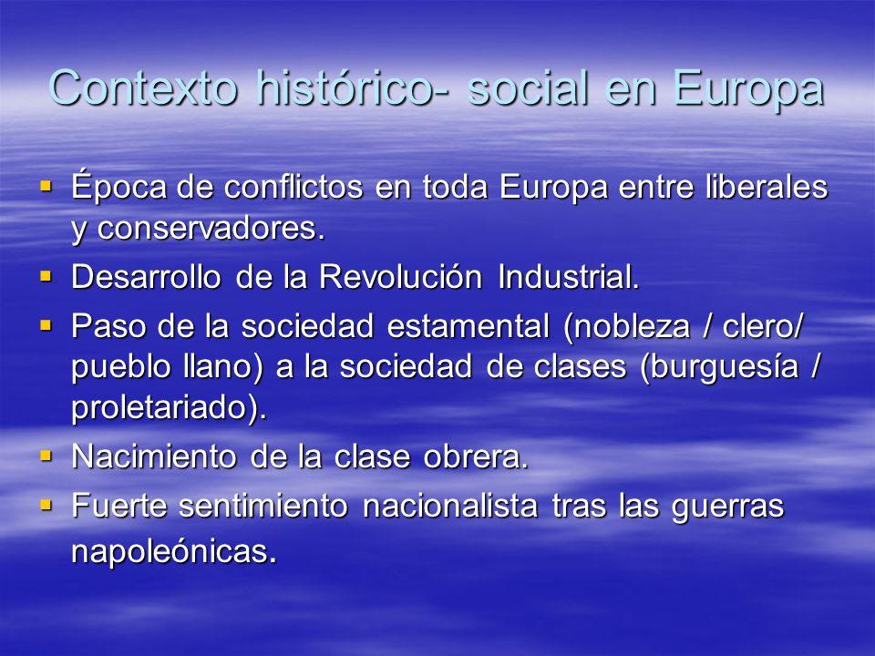 Contexto histórico- social en Europa