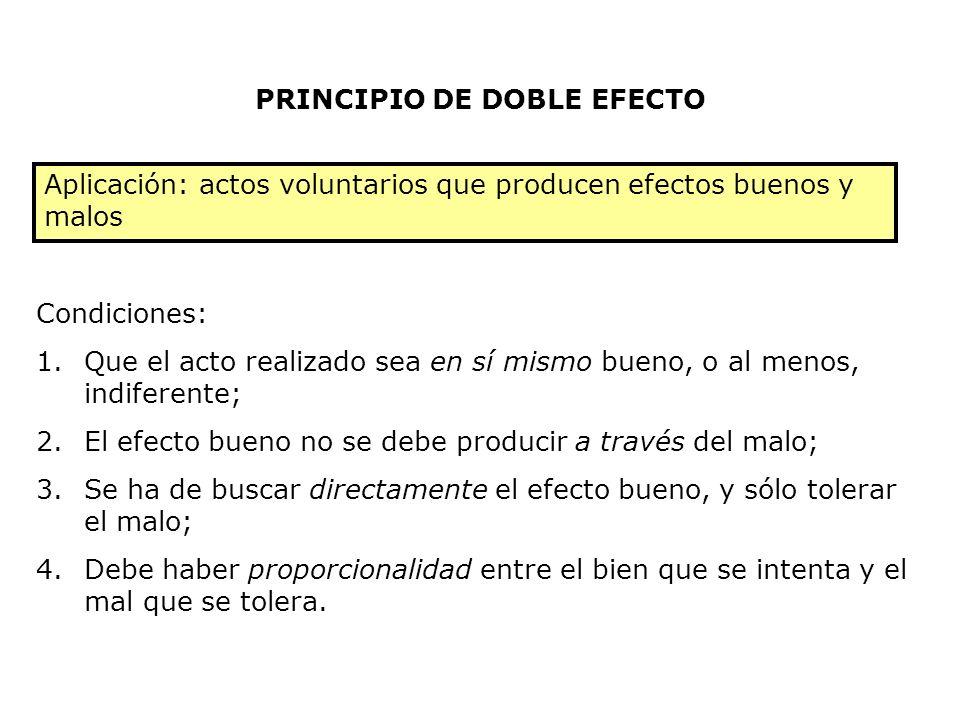 PRINCIPIO DE DOBLE EFECTO