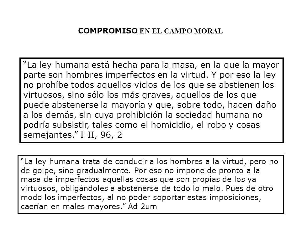 COMPROMISO EN EL CAMPO MORAL