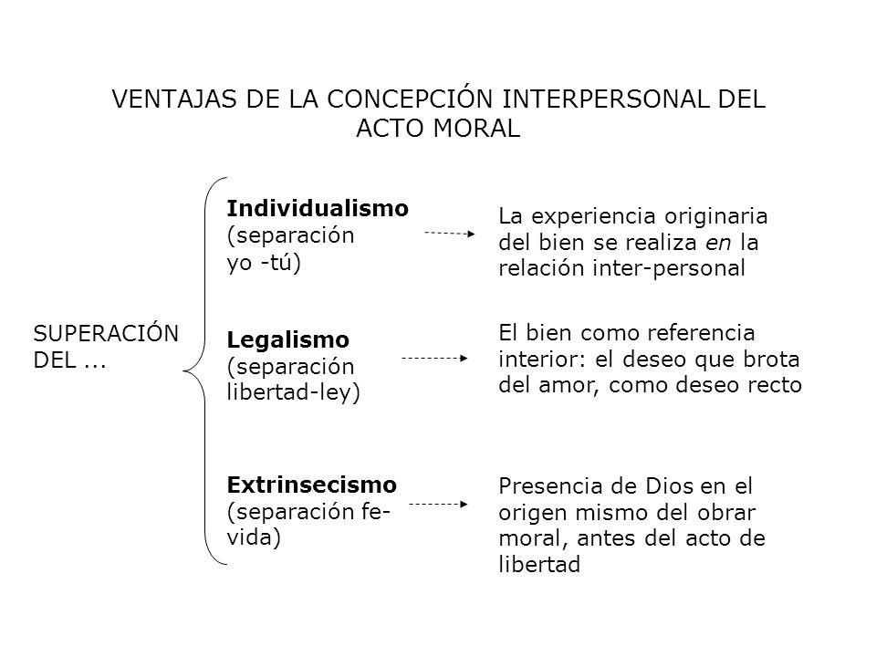 VENTAJAS DE LA CONCEPCIÓN INTERPERSONAL DEL ACTO MORAL