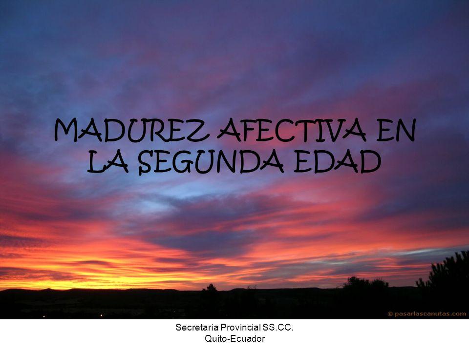 MADUREZ AFECTIVA EN LA SEGUNDA EDAD