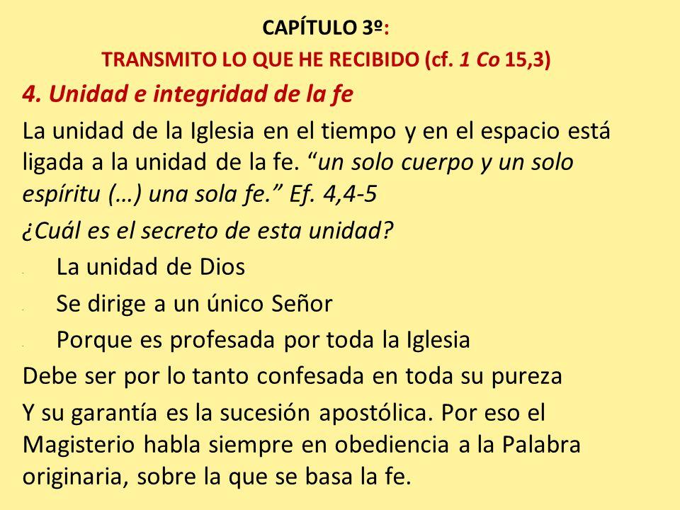 TRANSMITO LO QUE HE RECIBIDO (cf. 1 Co 15,3)