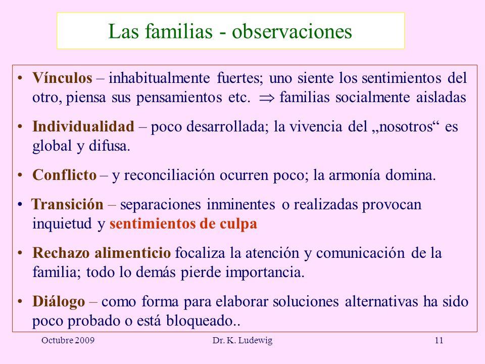 Las familias - observaciones