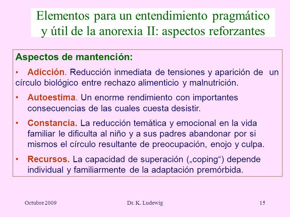 Elementos para un entendimiento pragmático y útil de la anorexia II: aspectos reforzantes