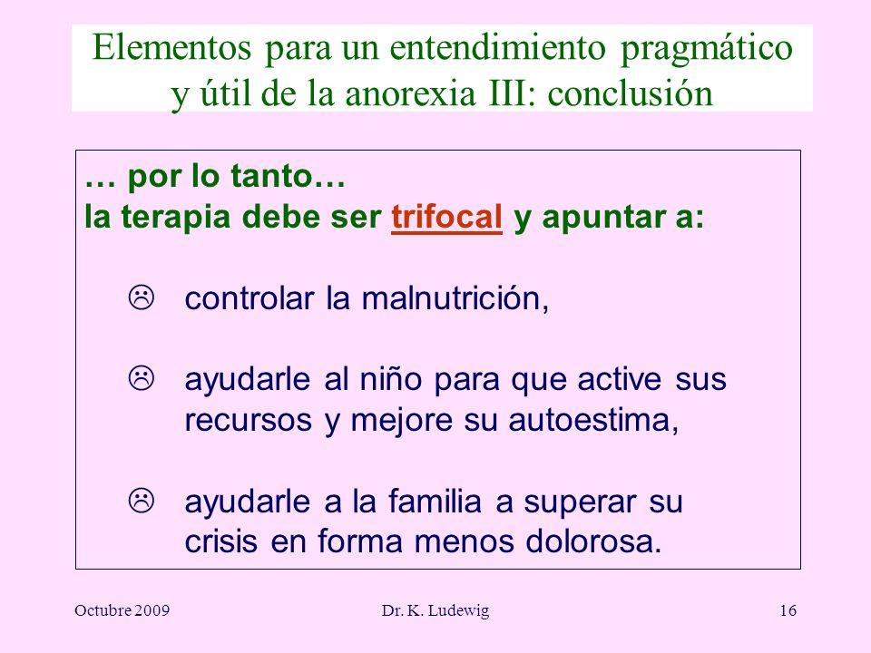 Elementos para un entendimiento pragmático y útil de la anorexia III: conclusión