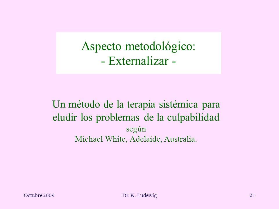Aspecto metodológico: - Externalizar -