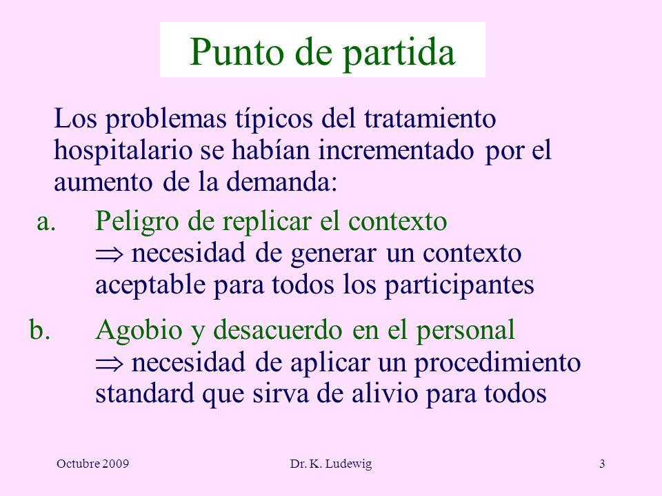 Punto de partida Los problemas típicos del tratamiento hospitalario se habían incrementado por el aumento de la demanda: