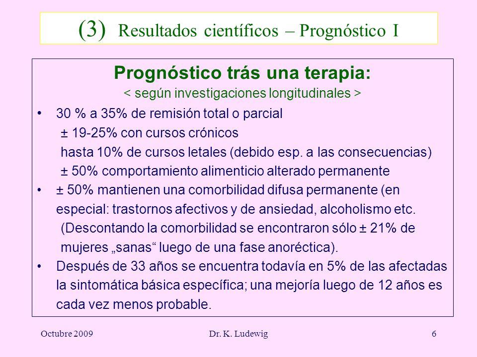 (3) Resultados científicos – Prognóstico I