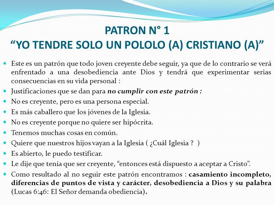PATRON N° 1 YO TENDRE SOLO UN POLOLO (A) CRISTIANO (A)