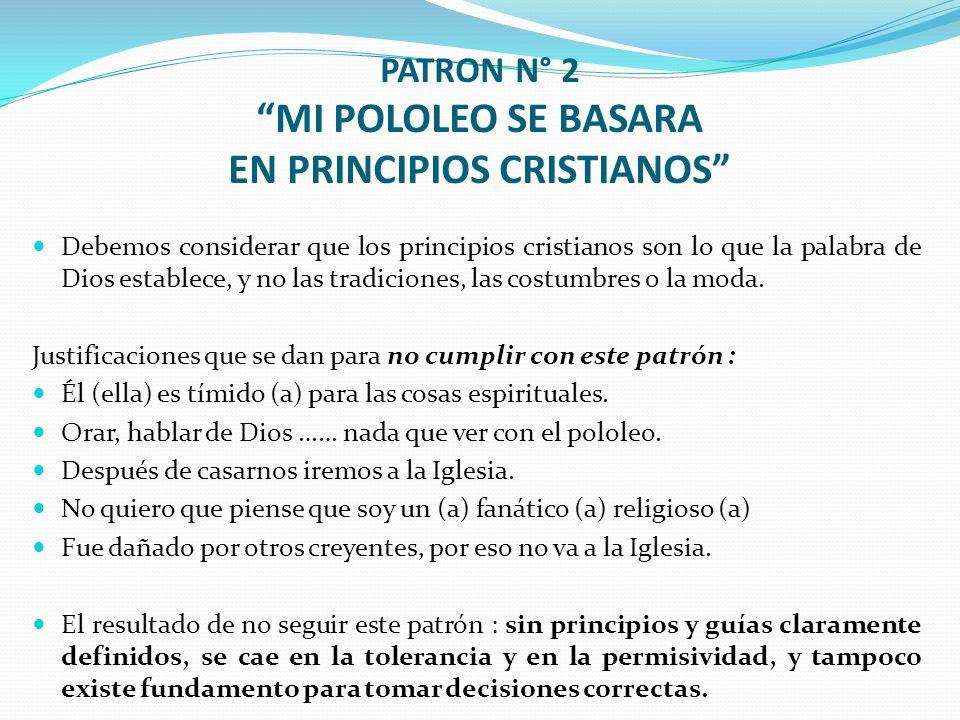 PATRON N° 2 MI POLOLEO SE BASARA EN PRINCIPIOS CRISTIANOS