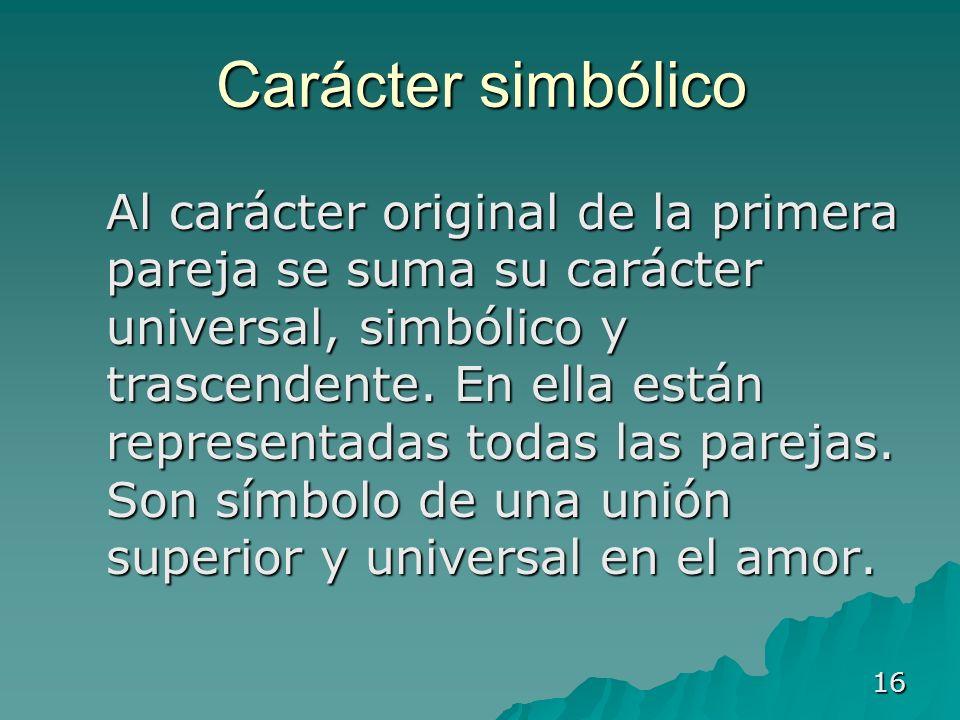 Carácter simbólico