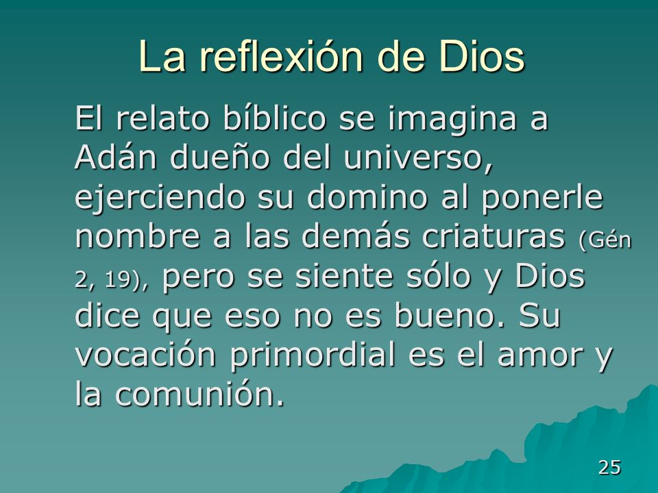 La reflexión de Dios