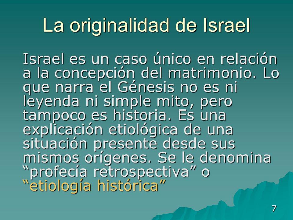 La originalidad de Israel