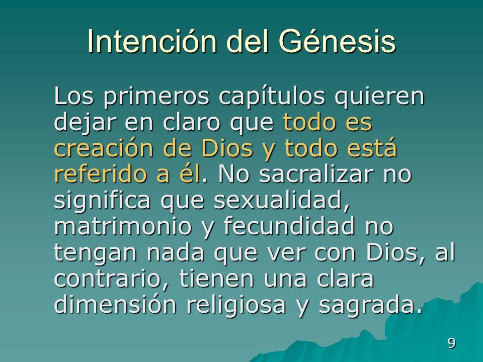 Intención del Génesis
