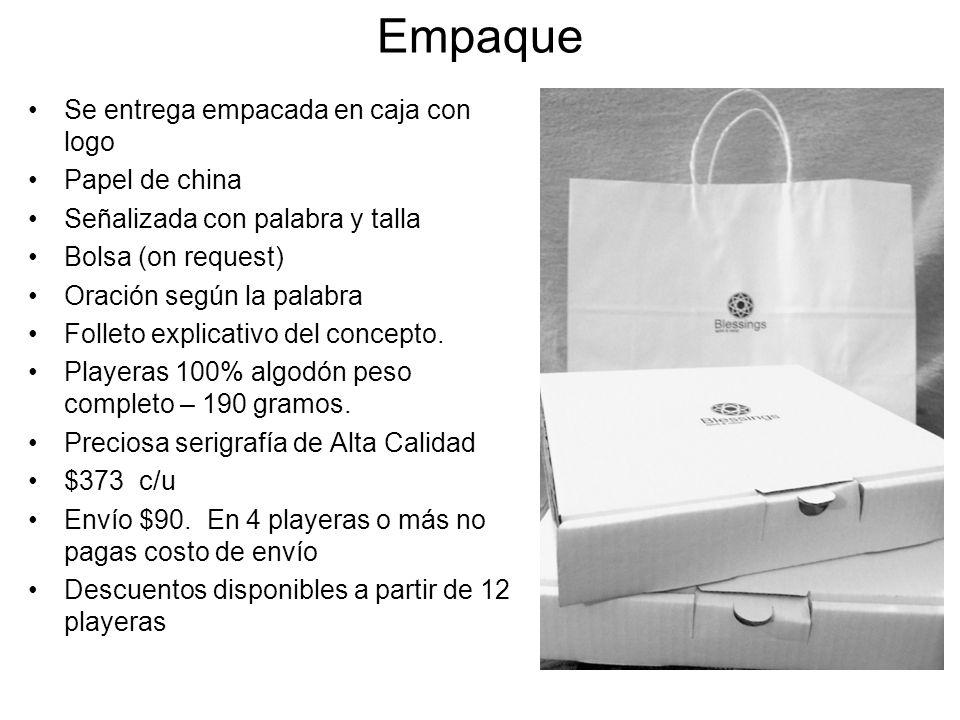 Empaque Se entrega empacada en caja con logo Papel de china