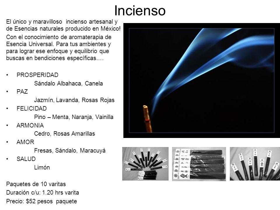 Incienso El único y maravilloso incienso artesanal y de Esencias naturales producido en México!