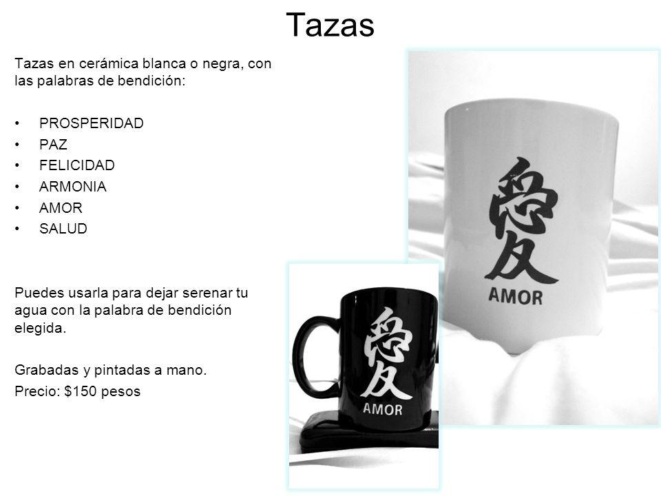 Tazas Tazas en cerámica blanca o negra, con las palabras de bendición: