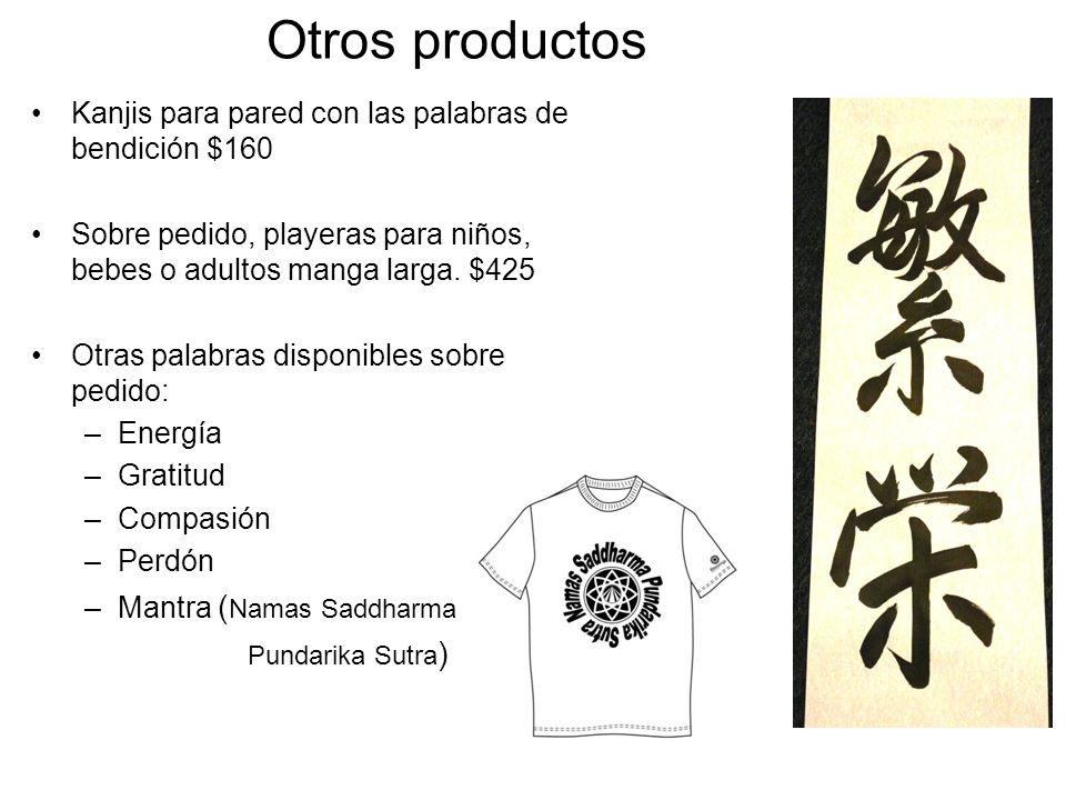 Otros productos Kanjis para pared con las palabras de bendición $160