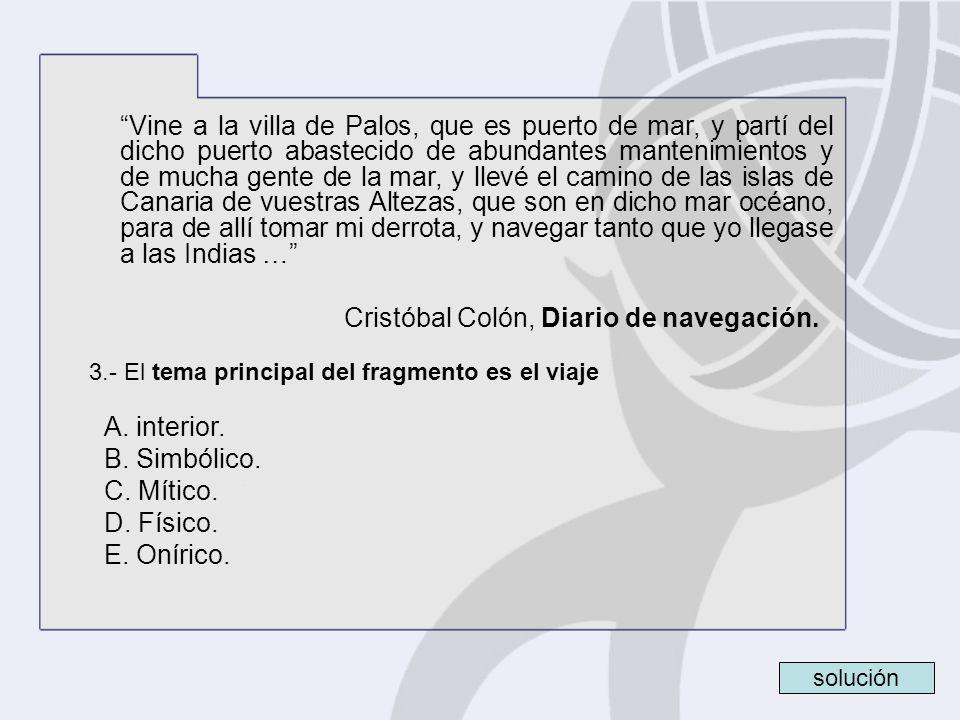 Cristóbal Colón, Diario de navegación.