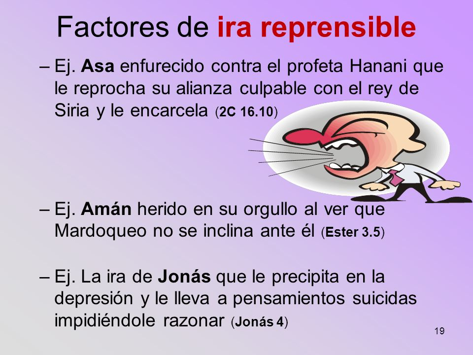 Factores de ira reprensible