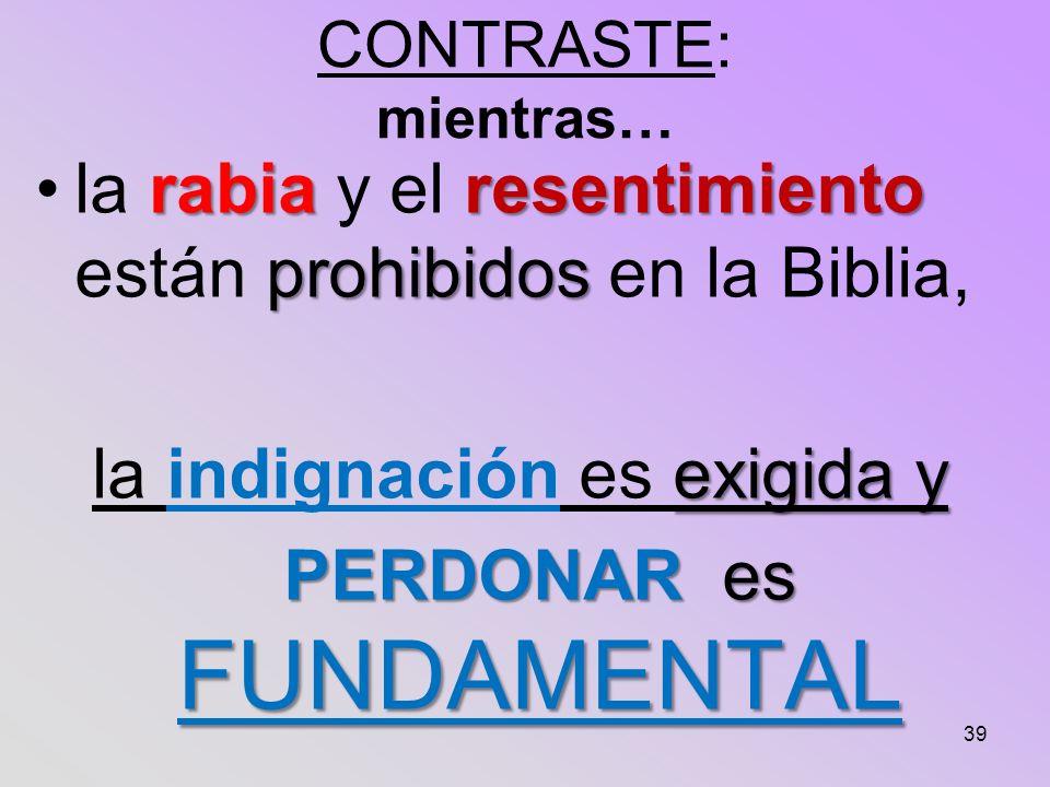 la rabia y el resentimiento están prohibidos en la Biblia,