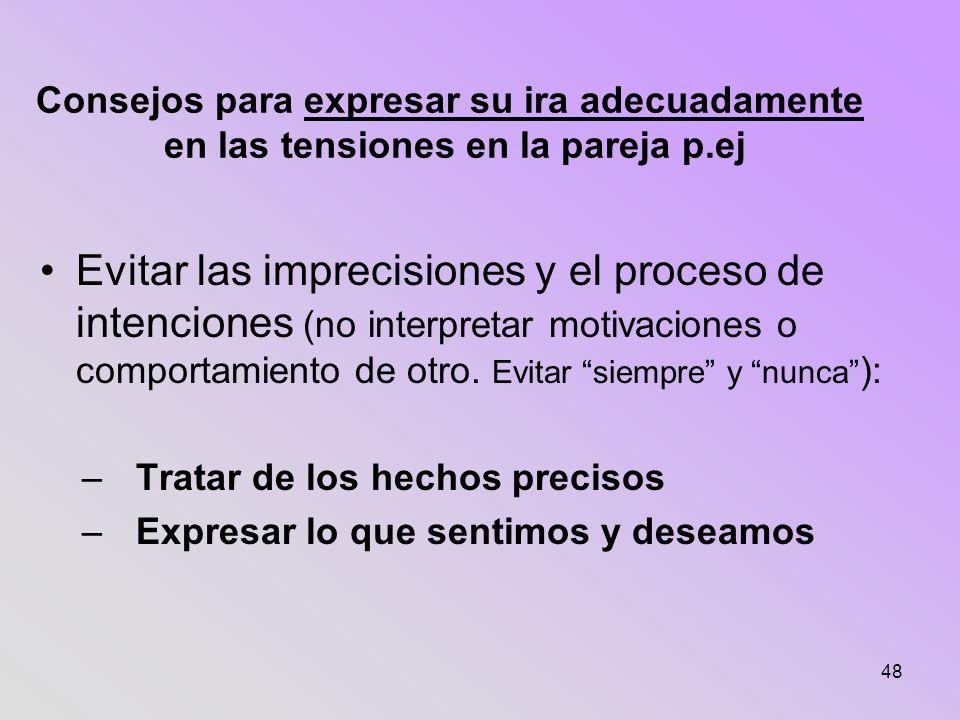 Consejos para expresar su ira adecuadamente en las tensiones en la pareja p.ej