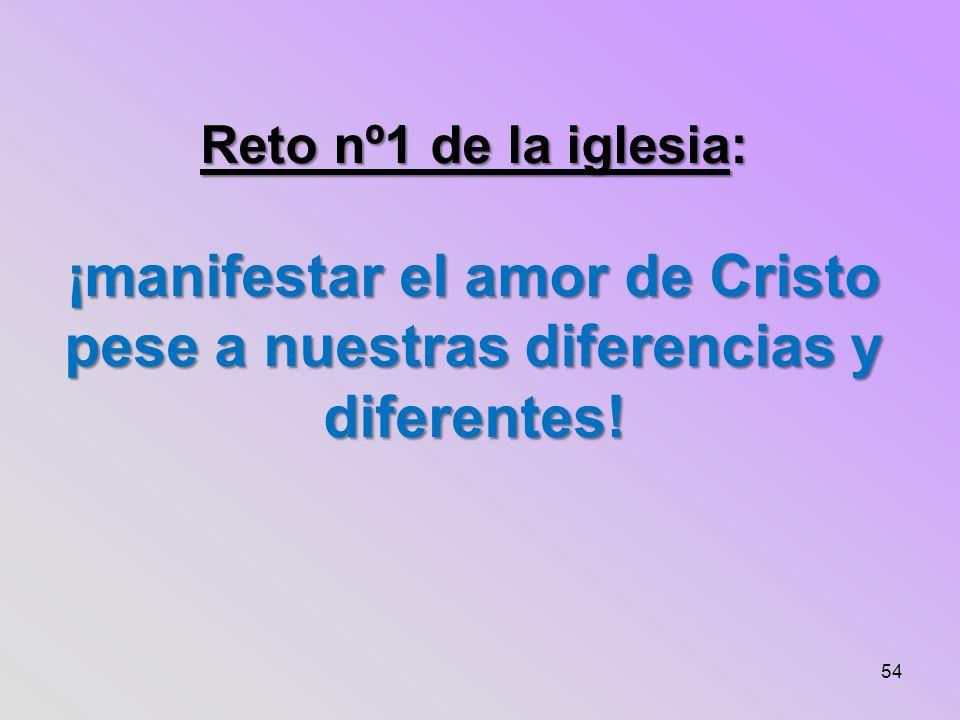 Reto nº1 de la iglesia: ¡manifestar el amor de Cristo pese a nuestras diferencias y diferentes!