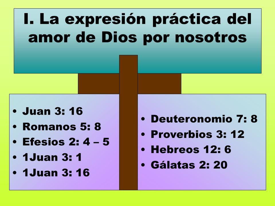 I. La expresión práctica del amor de Dios por nosotros