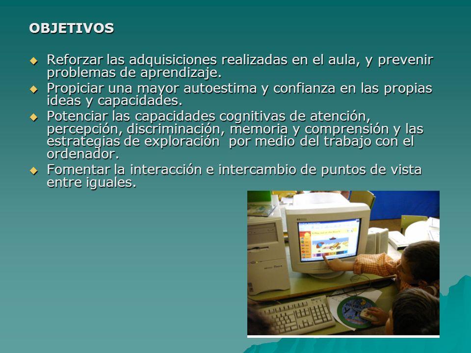 OBJETIVOS Reforzar las adquisiciones realizadas en el aula, y prevenir problemas de aprendizaje.