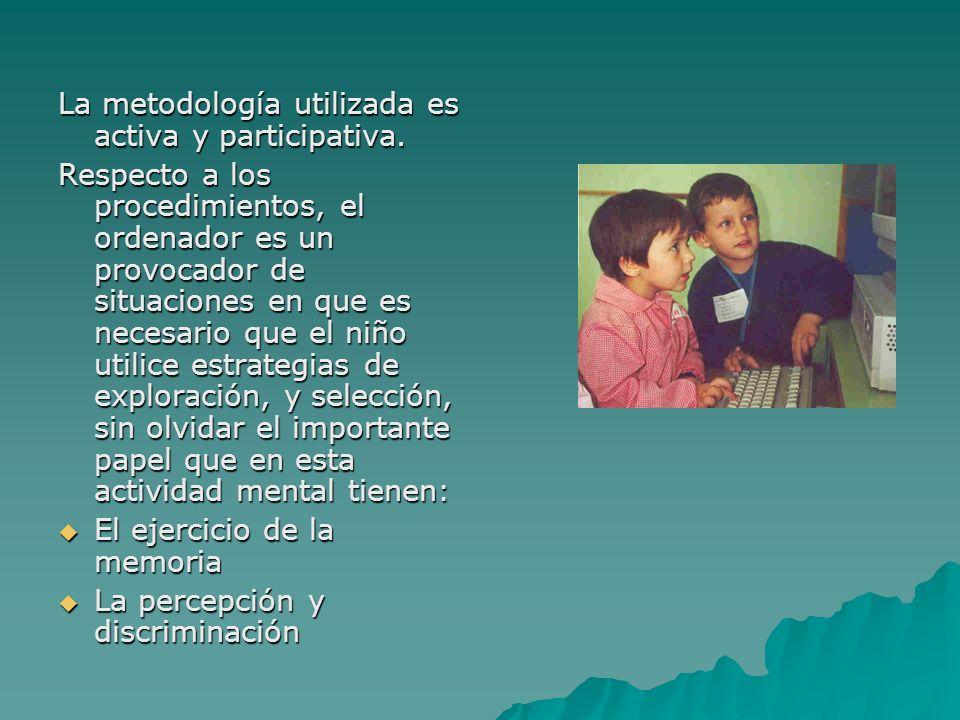 La metodología utilizada es activa y participativa.