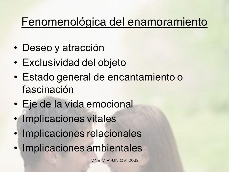 Fenomenológica del enamoramiento