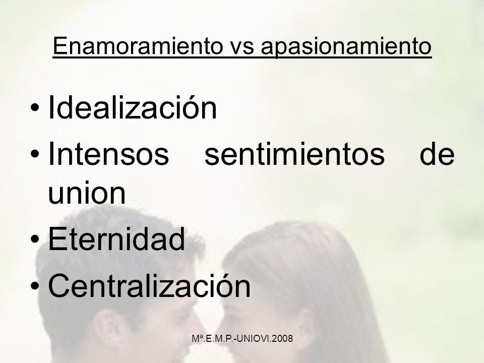 Enamoramiento vs apasionamiento