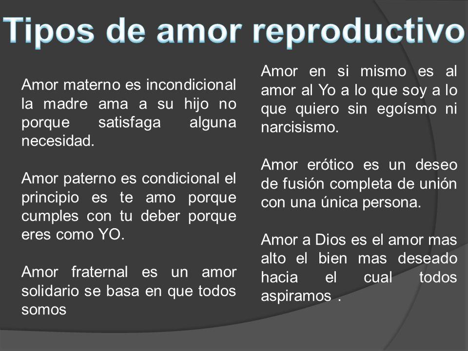Tipos de amor reproductivo