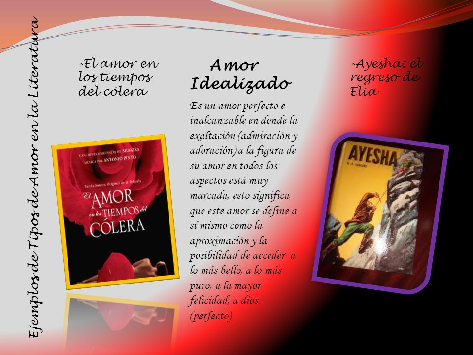 Amor Idealizado Ejemplos de Tipos de Amor en la Literatura