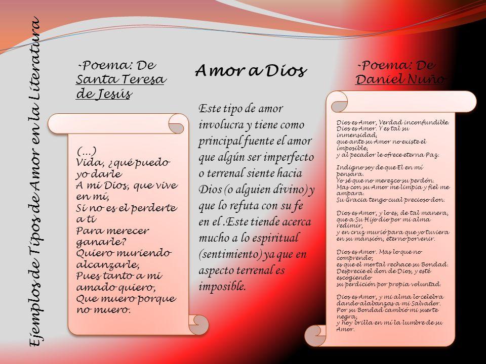 Amor a Dios Ejemplos de Tipos de Amor en la Literatura