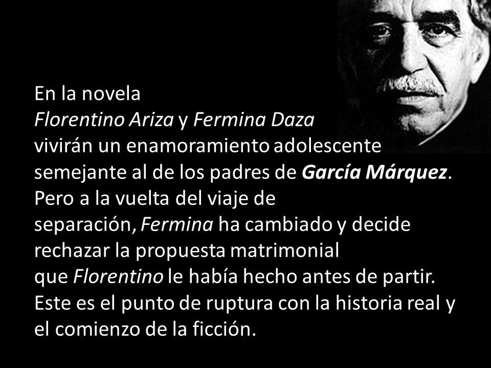 En la novela Florentino Ariza y Fermina Daza