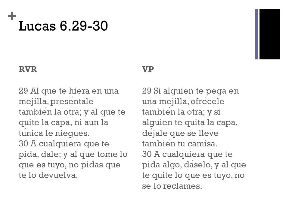 Lucas 6.29-30